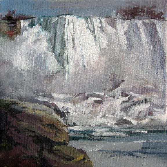 Niagara Fals painting November