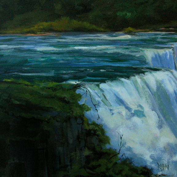 The Brink - Niagara Falls painting